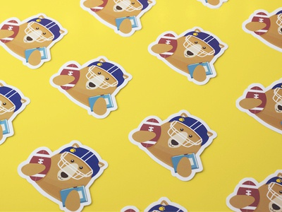 Cal Bear Stickers graphic design uc berkeley university spirit college california cal football character illustration berkeley stickers