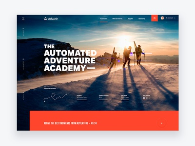 The Adventure Academy – Travel Site Concept ecommerce website web ux ui homepage typography clean layout design debut
