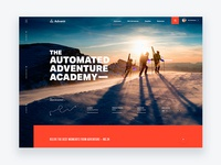 The Adventure Academy – Travel Site Concept