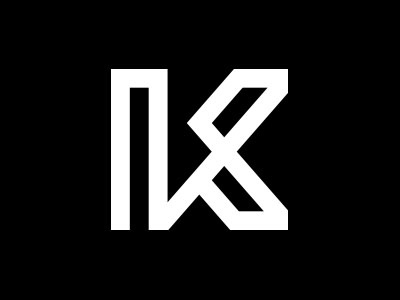 Kyle Cartier Logo video youtube simple modern white black typography logo