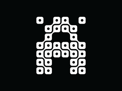 Type Experiment A grid modular a modern white black letters typography type