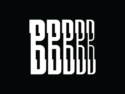 Type Experiment B white typography type modern letters black b