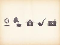 Retro style icon set