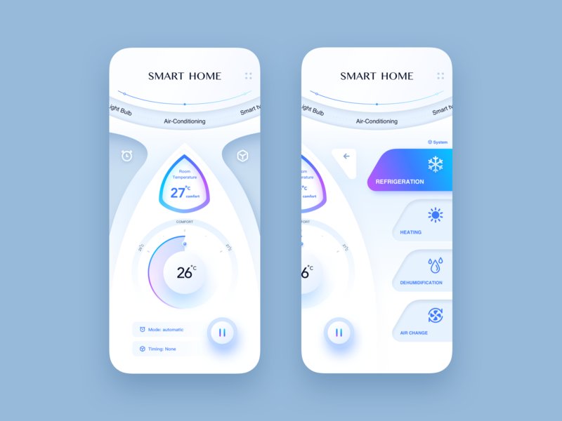 smart home practice smart smarthome design art illustration iphonex ios ux app ui