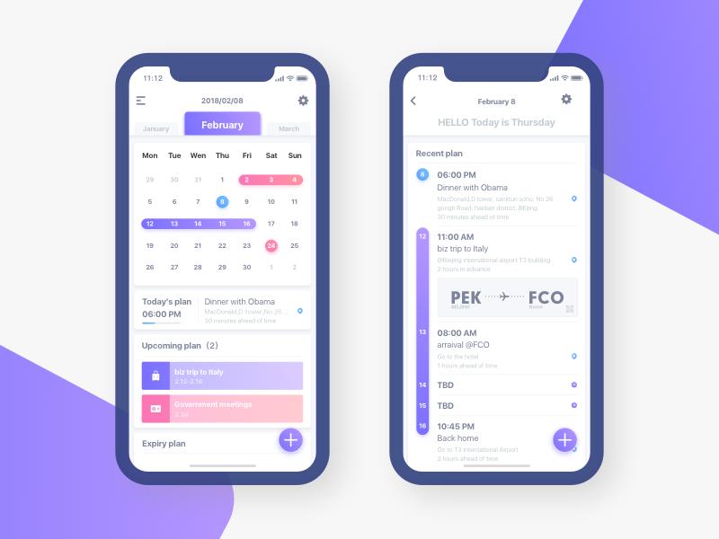 Calendar calendar ux ui iphonex ios app