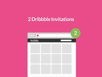 2 dribbble invitations  dribbble invite invites invitation pink flat lato green 2x 1x ux ui