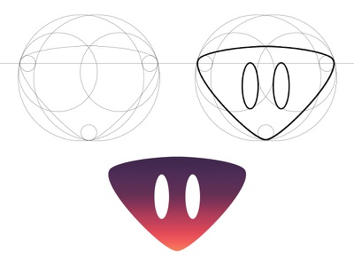 Friendly Alien illustrate 1.6 illustration golden ratio alien space gradient logo character