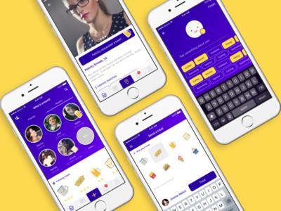 Send treats app concept
