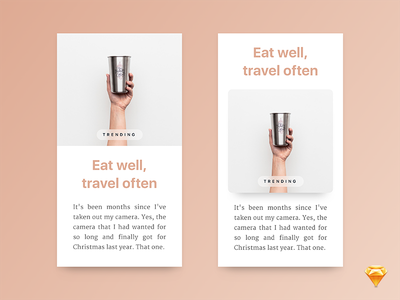 Freebie: Mobile article cards typography white ios freebie sketch shadow portfolio minimal clean card blog article