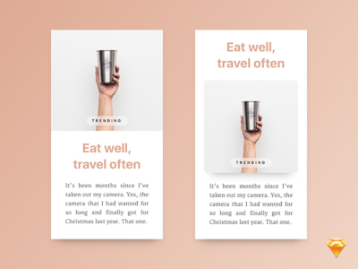 Freebie: Mobile article cards