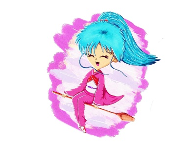 Botan | Yu Yu Hakusho procreate manga yuyuhakusho botan digital art anime illustration