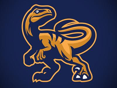 Raptor sport mascot microstock logo dinosaurs mascot bazzier velociraptor raptor sport logo