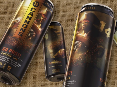 Go Fast Coffee IPA - 14 Cannons Brewing branding can packaging beer packaging craft beer