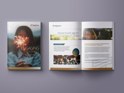 Trade Brohure college education tutoring collateral tradeshow brochure