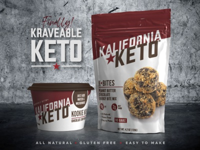 Kalifornia Keto branding packaging keto food