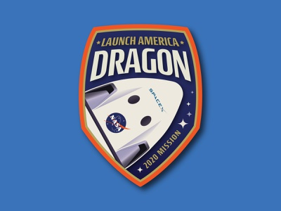 SpaceX Dragon Badge space patch spacex dragon dragon space badge nasa spacex