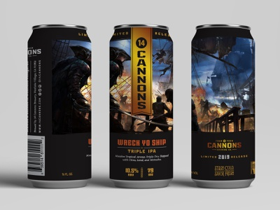 Wreck Yo Ship Can Triple IPA beverage design branding can packaging craftbeer beer