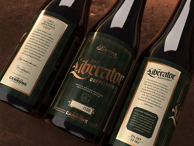 Liberator - Doppelbock Beer Packaging beverage design bottles craft beer foodpackaging beer
