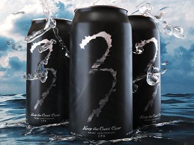 Keep the Coast Clear - IPA Packaging beer packaging design beverage packaging food packaging craft beer beer packaging