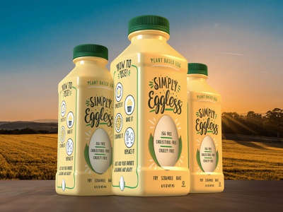 Simply Eggless Packaging design logo branding food bottles healthy food packaging food packaging
