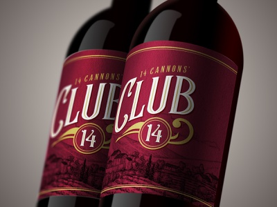 Club 14 Branding beverage packaging speakeasy bottle wine branding wine