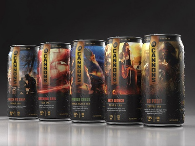 14 Cannons Limited Release Collection pirates branding packaging beverage beer craftbeer craft