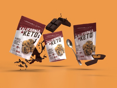 Kalifornia Keto Packaging chocolate keto food packaging branding