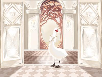 Odette magical designer trendy digital fashion digital house illustration white bright like heaven stylish princess swan swan illustration art colorful fashion art adobe photoshop adobe illustration graphic design design