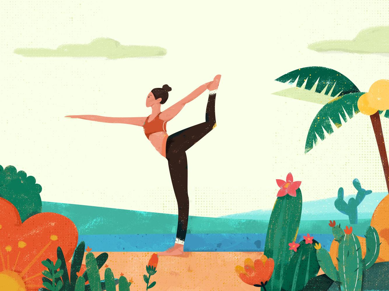 3.19   练瑜伽的女孩儿2