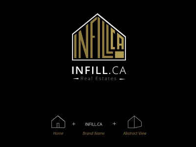 Infill Real Estate Logo concept typography identity brand logo