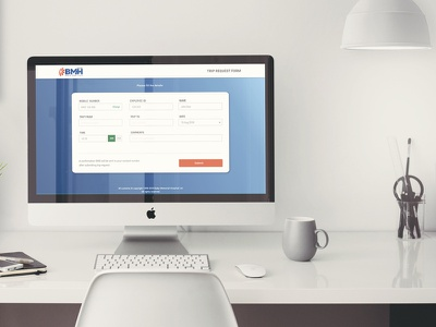 Fleet Booking web-page section interaction-design ux website ui