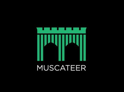 Muscateer Logo design branding identity typography website ux brand