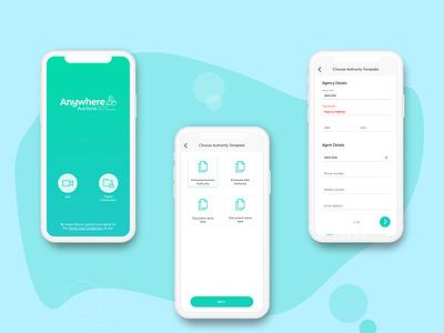 Auction anywhere- Document management App product design ux design ui design ios app interaction design web app design android app ios icon website ux ui