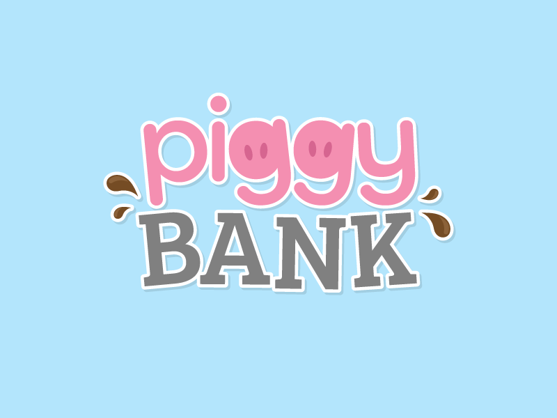 Piggy Bank Logo - Oink Bingo design room game gamble casino bingo oink logo bank piggy