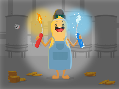Circus - Fire vs Ice fun cartoon character flat pablo peanut bingo circus ice fire