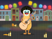 Circus - Esqueleto Explosivo lanterns pablo peanut bingo circus mexico dead day explosivo esqueleto