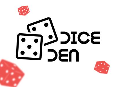 Dice Den Logo roulette poker bingo gambling slots company branding brand logo casino den dice