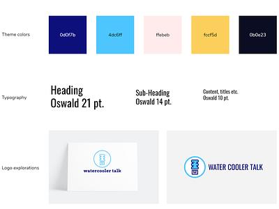 Branding for Water Cooler Talk palette uidesign branding