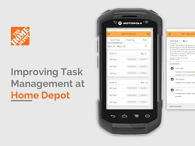 App design for Home Depot logistics task management ux design android app plugin app home depot