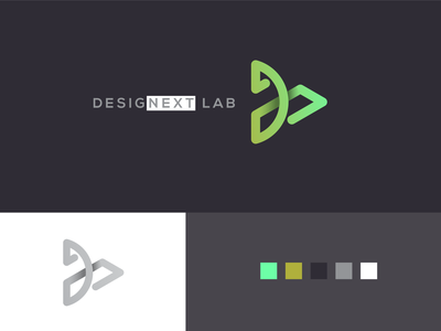 DesigNext Lab Logo iteration exploration lab human computer interaction georgia tech branding logo