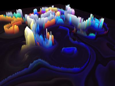 Generative art for client website data money shot analytics generative art