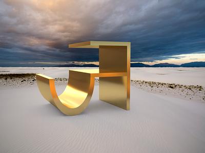 Ja modelling 3d typography devanagari type adobe dimension