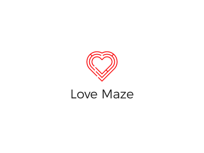 Love Maze Logo maze love branding logo design logo