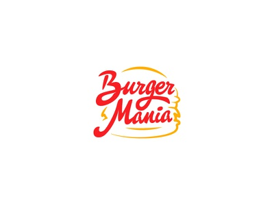Burger mania Logo food branding burger logo design logo
