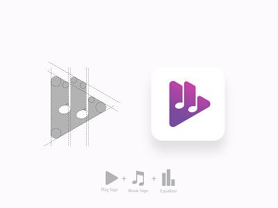 Soundit Logo app grid logo grid branding music logo design logo