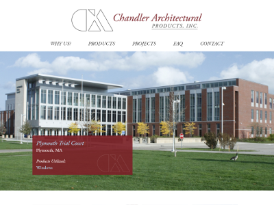 Chandler Architectural Products architectural products homepage responsive design website