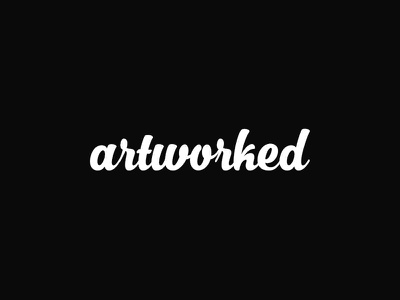 Artworked™ artworked brand logo visual identity typography hand written front custom font