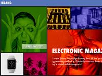 interactive magazine page