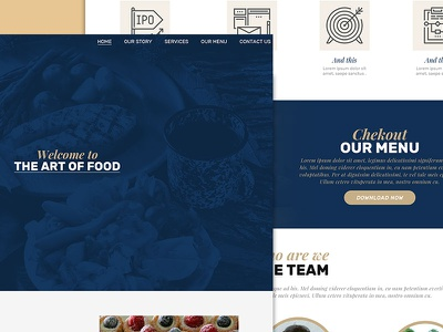 Art of food website buttons icons layers photoshop web experience. sketch web website artworked design ux-ui ui ux