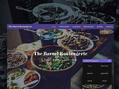The Barrel Boulangerie Website php javascript js html5 wordpress design ux-ui the barrel boulangerie